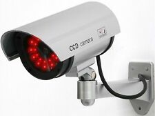 Silver Fake Bummy Dome Camera Security CCTV 30 Illuminating LED Camera