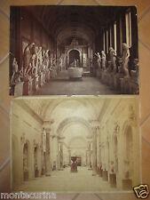 1880ca 2 GRANDISSIMe FOTOGRAFIE VINTAGE ROMA MUSEO VATICANO GALLERIA STATUE