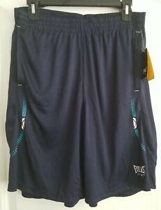 Men's Shorts Everlast Sport Athletic Dark Navy w/ Teal Accents M Medium NWT NEW