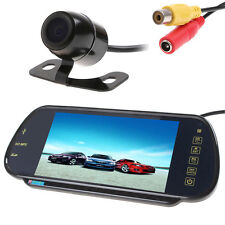 "7"" MP5 Bluetooth Car Rearview Mirror Monitor+ 420TVL CCD Reverse Backup Camera"