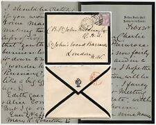 GB 1886 LETTER PRIMROSE LEAGUE COFFEE SAMOVAR etc ASHBY MOURNING PAPER… MILDMAY