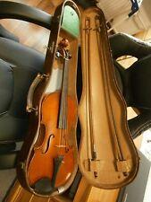 Alte Geige 4/4 mit Holzkoffer und Bögen Stradiuarius 1704 spielbar