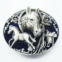 Men Buckle Horses Rodeo Western Belt Buckle Gurtelschnalle Boucle de ceinture