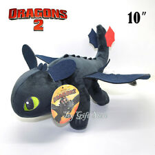 """TOOTHLESS Night Fury 10"""" How To Train Your Dragon Plush Doll Stuffed Toy"""