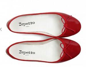 Repetto Red 'Cendrillon' Ballet Flats. Size 38. Good Condition.