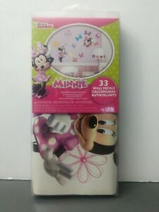 Disney Minnie Mouse Bow-tique Peel & Stick Wall Decals Brand New 33 New(Other)