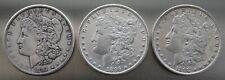 (3) 1891, 1896, 1898  Morgan Silver Dollars ~ 90% Silver