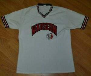 VTG Wauseon OH High School Indians Pullover Baseball Softball Jersey Large Nice