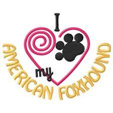 "I ""Heart"" My American Foxhound Ladies Fleece Jacket 1307-2 Size S - Xxl"