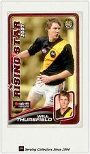 2008 Herald Sun AFL Trading Cards Risingstar Nominee RSN22 Thursfield (Tigers)