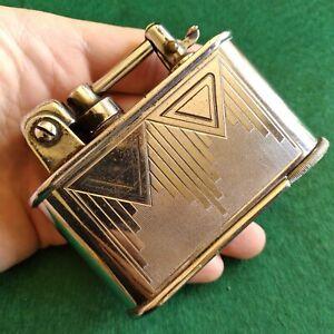 Vintage Antique Art Deco French Lancel Semi Automatic Table Cigarette Lighter