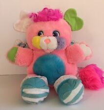 1986 Mattel Popples Cribsy Pink Blue Stripes Vintage Rattle Tail