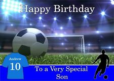 personalised birthday card Football any name/age/relation