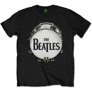 The Beatles Drum Logo Men's Black T-Shirt Licensed Official Apple - Medium Only