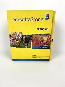 Full ROSETTA STONE French Level 1-5 Set With Activation Code-No Headset