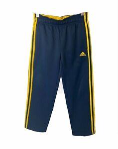 Boys size medium adidas blue and yellow track pants