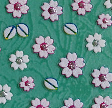 Nail Art 3D Sticker Pastel Color Cherry Flowers Japanese style 64 pcs/sheet