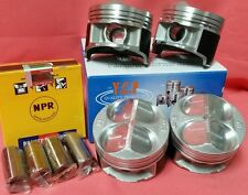 YCP B16 B18 81.5mm 020(.50) JDM High Comp Pistons+Rings Acura Honda CivicType R