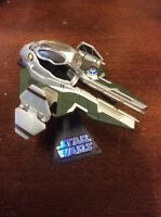 Star Wars 2005 Die Cast Anakin Jedi Starfighter with Plastic Stand