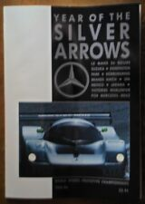 MERCEDES BENZ Year of the Silver Arrows 1989 1990 Magazine Brochure with Poster