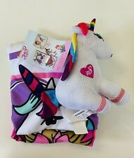 Nickelodeon JOJO SIWA 2-Piece Character Bath/Wash Set Rainbow Unicorn Scrubby