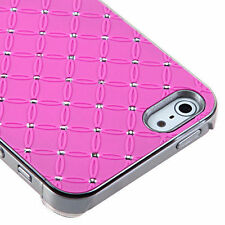 For iPhone 5 5S SE HARD Executive Case Phone Cover Hot Pink Dazzling Diamond