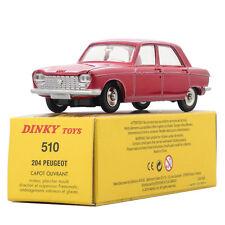 1:43 ALLOY DINKY TOYS 510 Atlas Diecast Red PEUGEOT Antique Car MODEL ALLOY