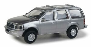 Walthers HO Scale Ford Expedition Special Service (SSV) Unmarked Unit (Silver)
