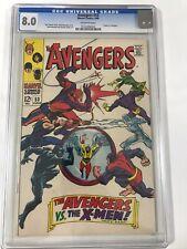AVENGERS # 53  CGC 8.0 / X-MEN VS AVENGERS