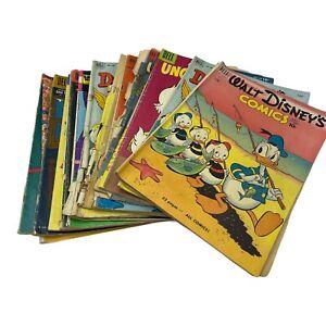 Lot Of 16 Dell Comic Walt Disney Donald Duck, Uncle Scrooge, Walt Disney Comics