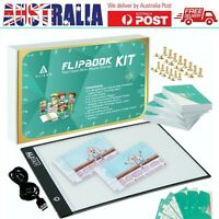 Kids Animation Flip Book Kit With A4 Light Pad 360 Sheets 160 GSM Flipbook Paper