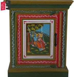 Hand Painted End Table Indian Painted Bed Side Table Indian (MADE TO ORDER)