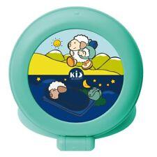 Claessens'Kids Réveil pour enfant fille garçon Kid'Sleep Globetrotter Vert