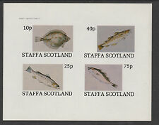 GB Locals - Staffa 3536 - 1982  FISH  imperf sheet of 4 unmounted mint
