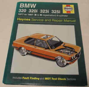 BMW 320 320i 323i 325i 6-cyl E21 & E30 1977-87 Haynes Workshop Manual No.0815
