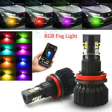 H8 H9 H11 RGB Multi Color Wireless Phone Control LED Bulb For Driving Fog Lights