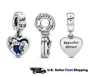 Authentic Pandora Disney Lady and the Tramp Silver 925 ALE Dangle Charm 798634C0