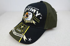 US Army Unisex Hat Embroidered Licensed Baseball Cap Adjustable Size USA Eagle