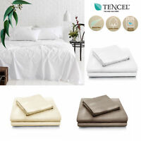 Natural Tencel Cotton Blend Sheet Set by Accessorize - SINGLE DOUBLE KING