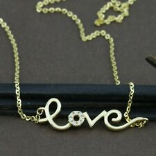 "Genuine 18CT WG Diamonds ""LOVE"" Necklace"
