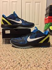 NIKE KOBE VI 6 sz 11.5 CAMO BLACK BLUE VOLT DUKE GRINCH PRELUDE 3D ALL STAR FTB
