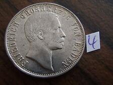 1864 1/2 Gulden vz Baden Durlach Friedrich I. 1856 - 1907 Altdeutschland Silber