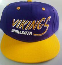 New! Minnesota Vikings Embroidered Adjustable Cap