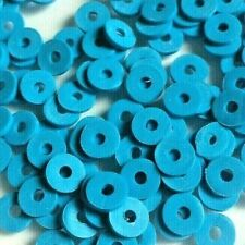 500 x Blue Coloured Heishi Flat Round Spacer Beads - Size 6x1mm. (1p per bead)