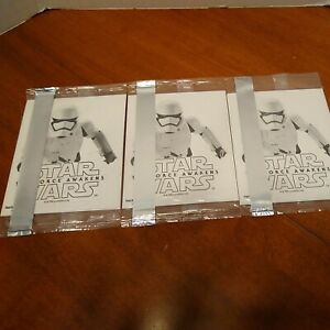 Star Wars The Force Awakens Promo Stickers General Mills Cereals -Set of 3 (NEW)