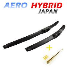 2 x HYBRID Scheibenwischer Technologie 650/400mm + 10cm Antenne GOLD