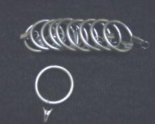 Gardinenringe Ringe 40/50 mit Klammern Gardinia Alabama silber matt 10er Set NEU