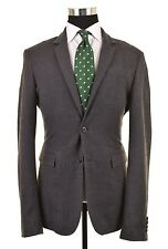Allsaints Spitalfields Gray Herringbone Stripe TWEED Wool Sport Coat Jacket 42