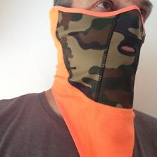 Airhole Ski and Snowboard Tech Mask Camo Orange NEW