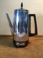 RARE VINTAGE / MID CENTURY GRANT MAID 10 CUP COFFEE PERCOLATOR B-0111-56 WORKING